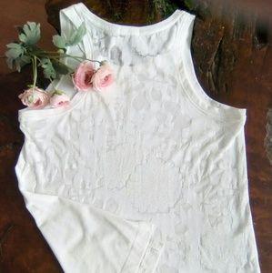 GAP 🌸🌼 floral-shear tank top blouse